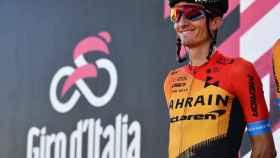 Pello Bilbao en la presentación de una etapa del Giro de Italia