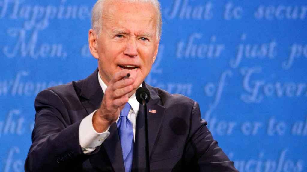 Joe Biden, candidato del Partido Demócrata a la Casa Blanca, en el debate celebrado en Nashville.