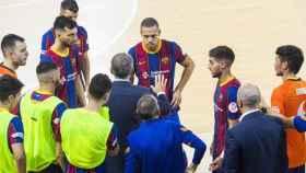 Jugadores del FC Barcelona fútbol sala