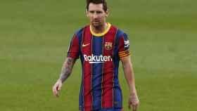 Leo Messi, en un momento de El Clásico entre Barcelona y Real Madrid