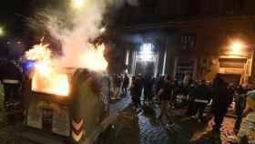 Los disturbios en Nápoles.