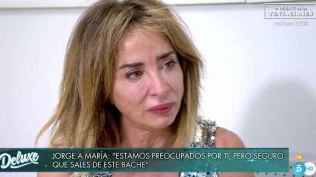 María Patiño llora en 'Sábado Deluxe'.