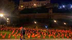 56.000 banderas de España en el Paseo Recaredo de Toledo
