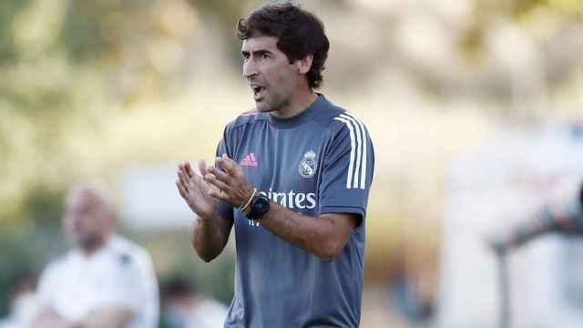 Raúl González, durante un partido del Real Madrid Castilla de esta temporada