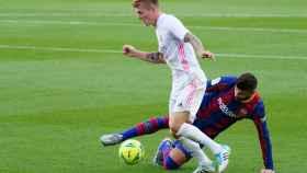 Toni Kroos, durante el último Clásico entre el Real Madrid y el Barça en La Liga
