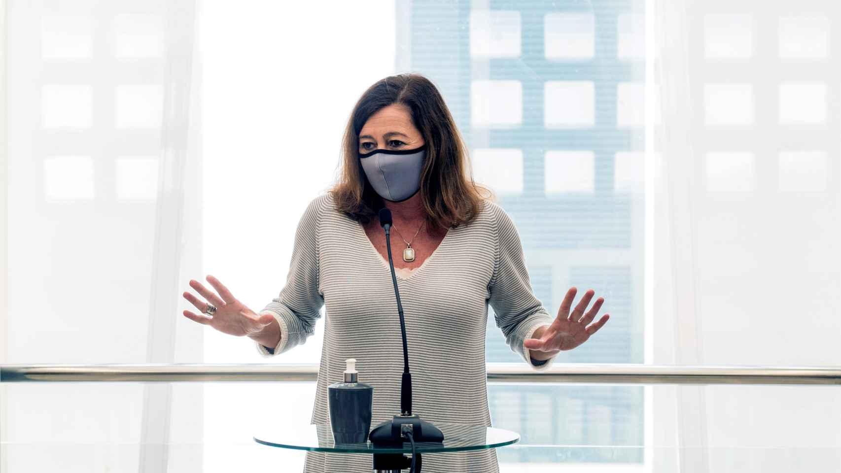 Francina Armengol, en rueda de prensa.