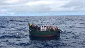 Embarcación rescatada por Salvamento Marítimo esta semana en la costa canaria.