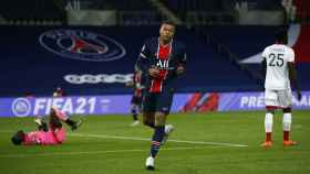 Kylian Mbappé, durante el PSG - Dijon de la Ligue-1