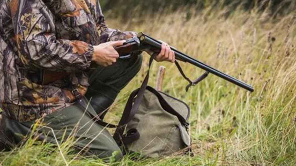 Un cazador en imagen de archivo.