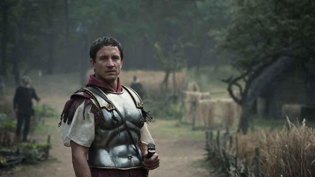 El actor Laurence Rupp como Arminio.