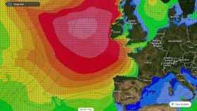 Las olas alcanzarán los 19 metros en el norte del Atlántico. Meteored/tiempo.com