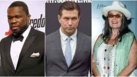 El rapero 50 Cent, el actor Stephen Baldwin y la actriz Roseanne Barr en montaje de JALEOS.