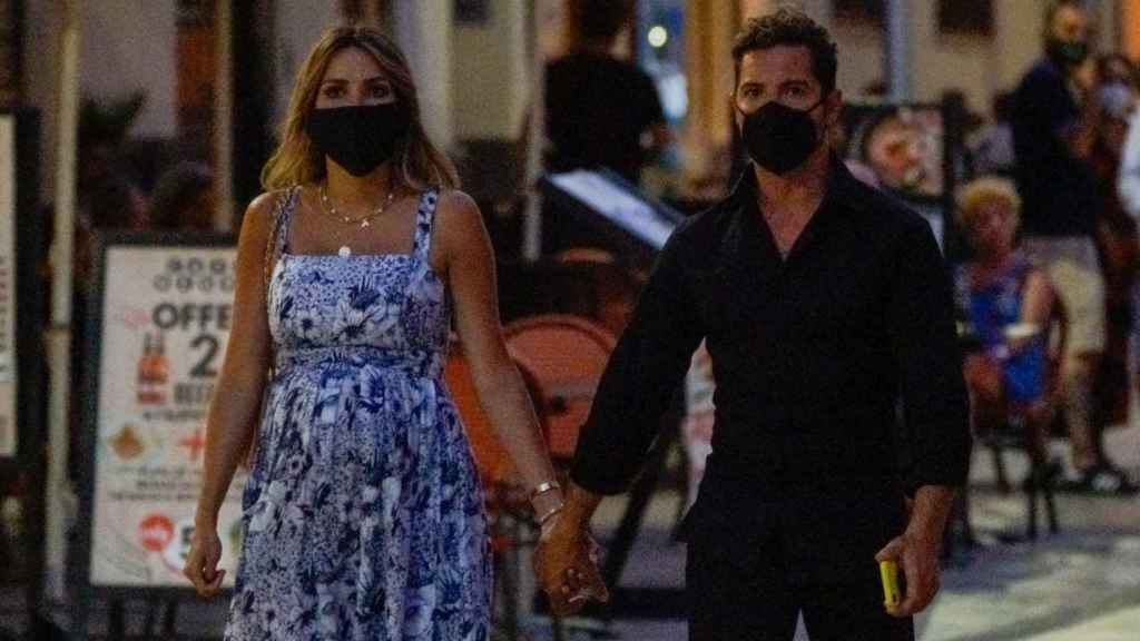Rosanna Zanetti y David Bisbal, durante el verano, en Málaga.