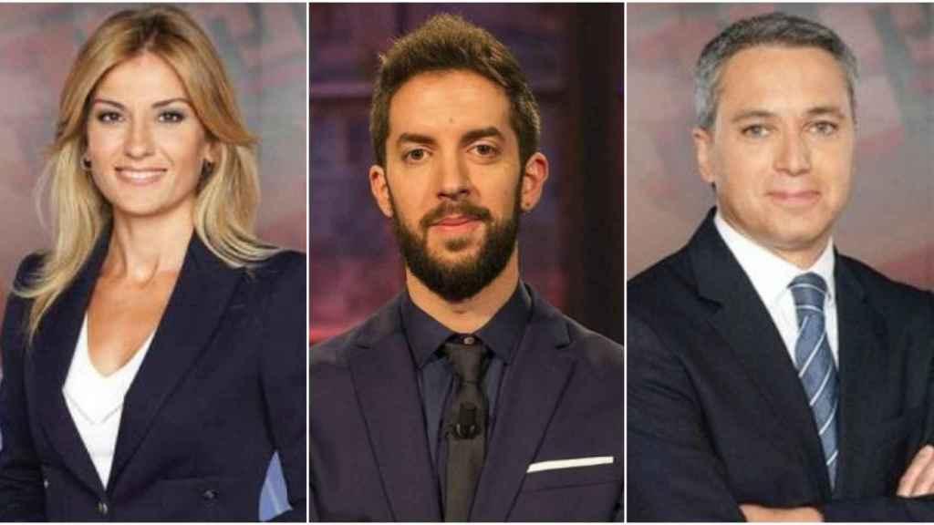 Sandra Golpe, David Broncano y Vicente Vallés en montaje de JALEOS.