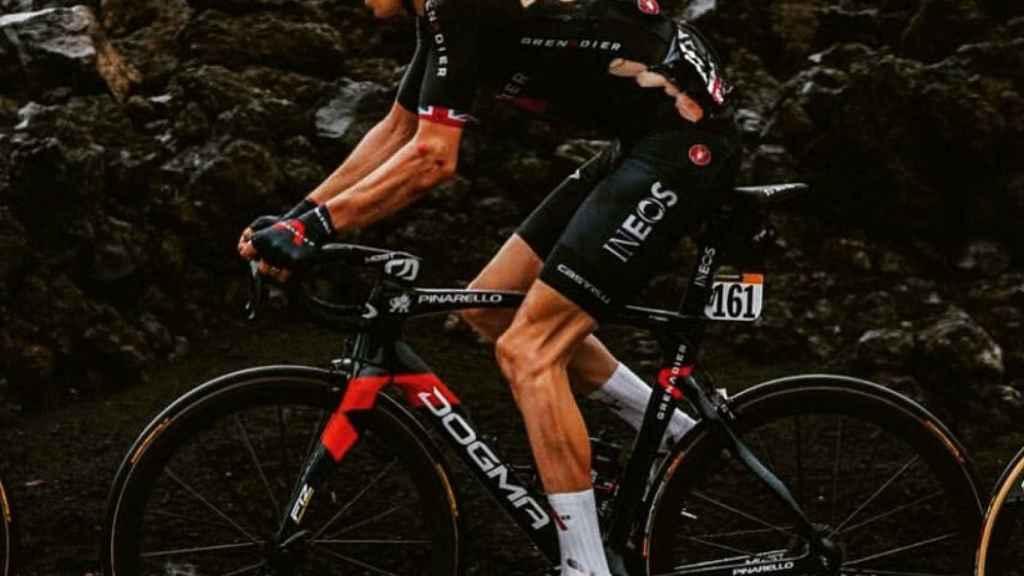 Geraint Thomas, tras su caída en el Giro de Italia 2020