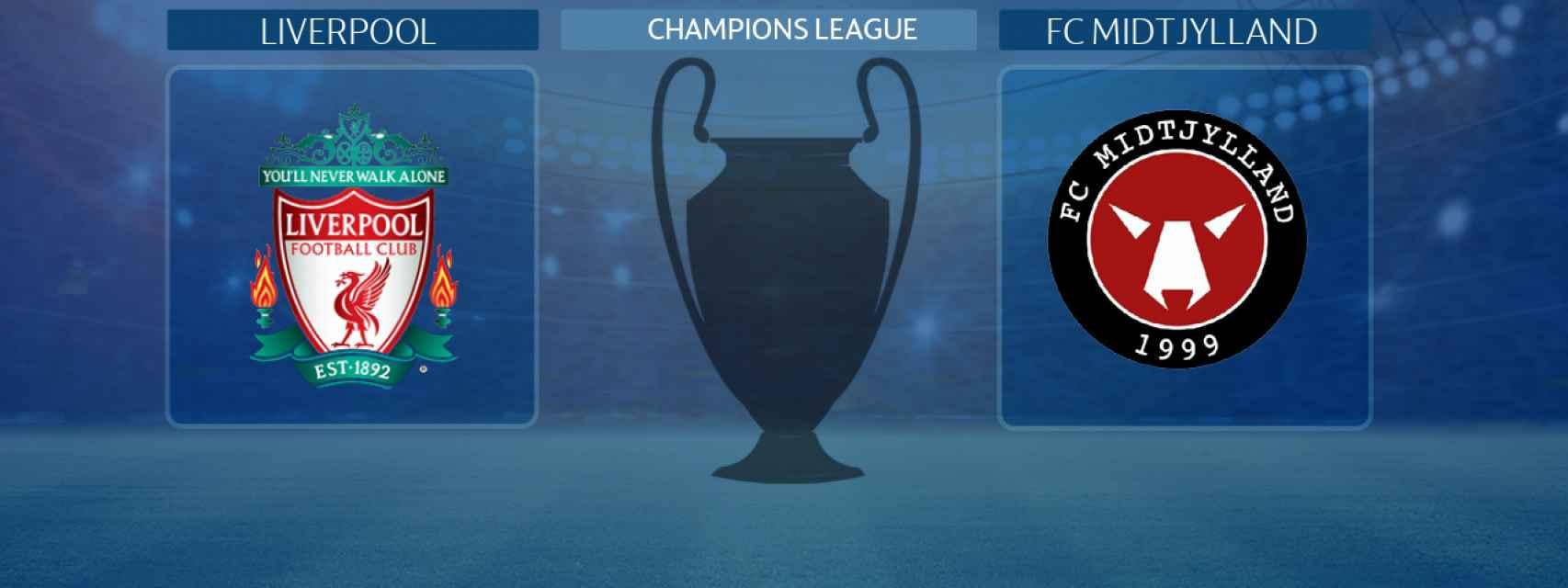 Liverpool - FC Midtjylland, partido de la Champions League