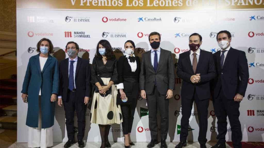 Cuca Gamarra, José Luis Almeida, Mamen Vázquez, Cruz Sánchez de Lara, Pablo Casado, Pedro J. Ramíres y  Teodoro García Egea.