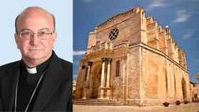 El obispo de Menorca y una imagen del Obispado.
