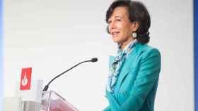 Ana Botín, durante la junta de accionistas 2020 de Banco Santander.