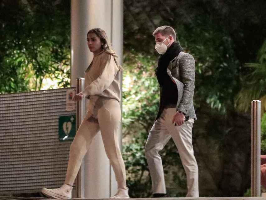 Tom Brusse y Sandra Pica en Madrid.