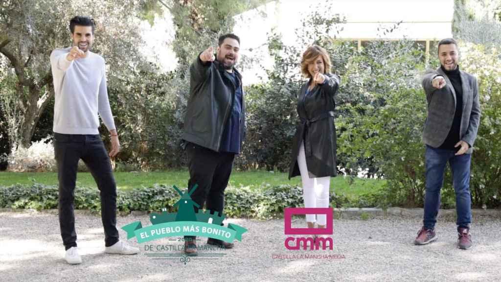 Gonzalo Ferreño, Borja Llamas, Mariló Leal y Álex Álvarez en una imagen promocional del programa.