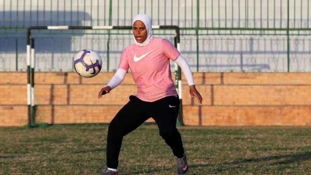 Faiza Heidar, en un entrenamiento