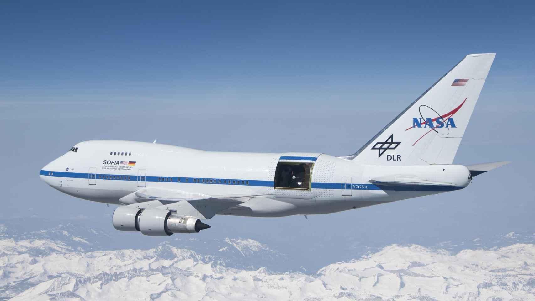 Boeing 747 de la NASA empleado en el programa SOFIA