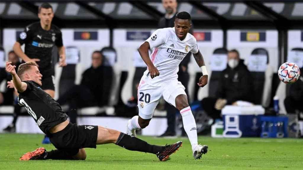 Vinicius, contra el Borussia Mönchengladbach