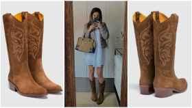 La 'influencer' Nuria González con botas de Dakota Boots.