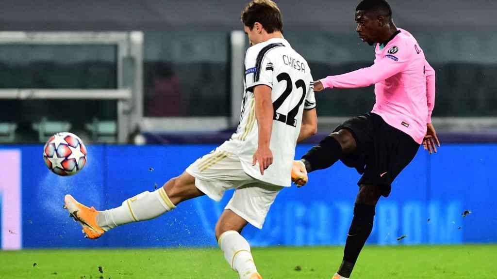 Dembélé marca ante la Juventus