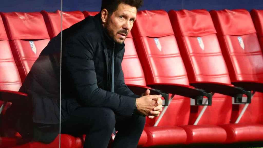 Diego Pablo Simeone, en el banquillo del Atlético de Madrid