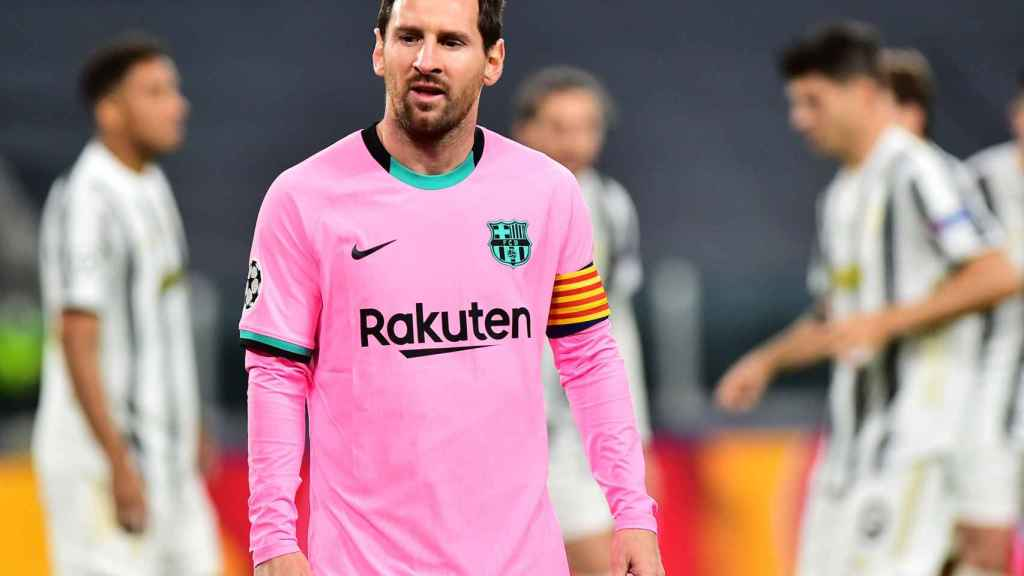 Leo Messi, durante el Juventus - Barcelona de la Champions League