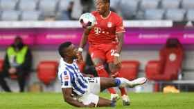 David Alaba durante un partido del Bayern