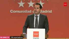 Ignacio Aguado en rueda de prensa este miércoles.