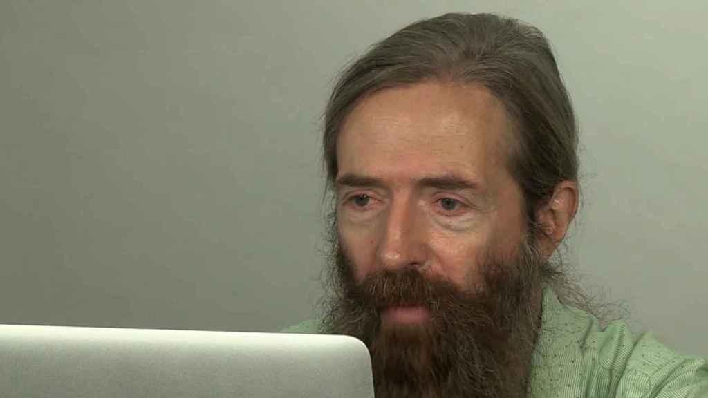 Aubrey de Grey, durante su charla en el South Summit.