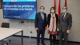 Imagen del acuerdo firmado este miércoles entre Sareb y Ayuntamiento de Madrid.