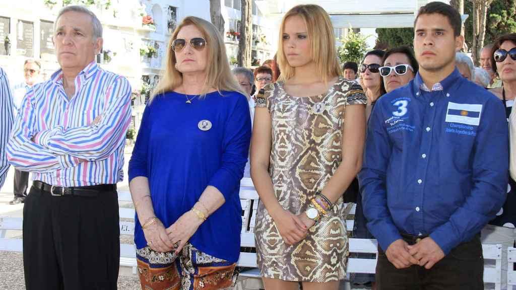 José Antonio Rodríguez, Gloria Mohedano, Gloria Camila Ortega y José Fernando Ortega.