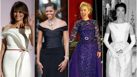 Melania Trump, Michelle Obama, Hillary Clinton y Jacquie Kennedy en un fotomontaje de 'Jaleos'.