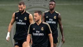 Benzema, Hazard y Vinicius