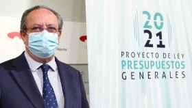 El consejero de Hacienda de Castilla-La Mancha, Juan Alfonso Ruiz Molina, durante la presentación de los presupuestos de 2021