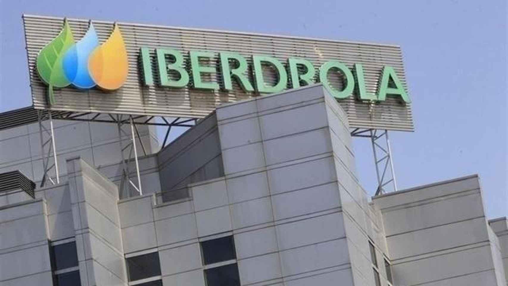 Rótulo de Iberdrola en una de sus sedes.