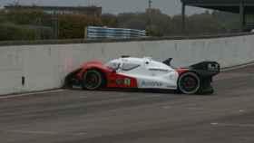 Un Roborace, coche de carreras autónomo, accidentado