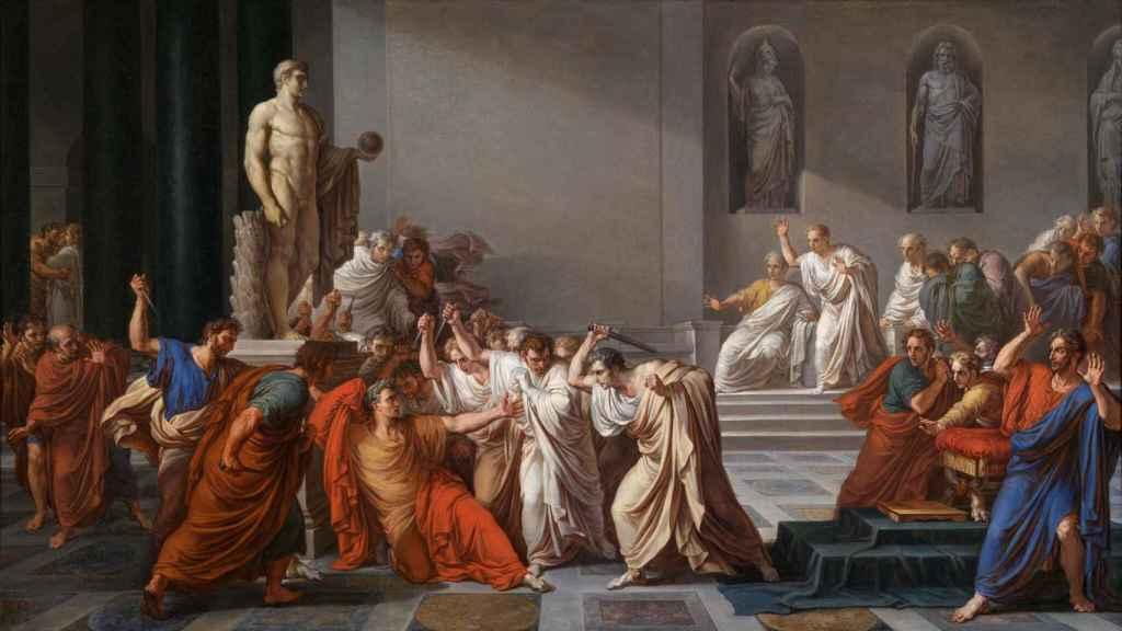 La muerte de Julio César.