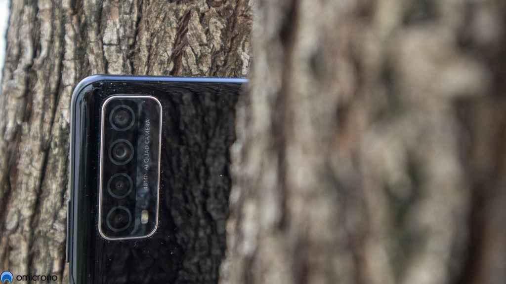 Las cuatro cámaras del Huawei P Smart 2021 no son sorprendentes pero sí funcionales.