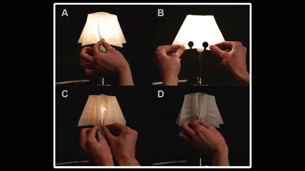 Lámpara con la tela