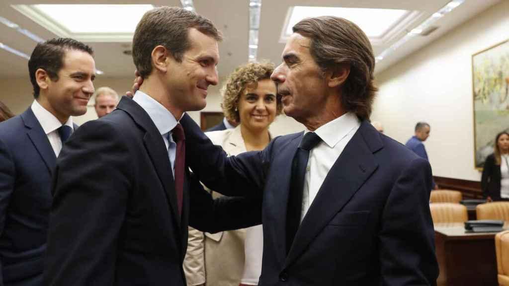 Pablo Casado, presidente del PP, fue asesor de José María Aznar.