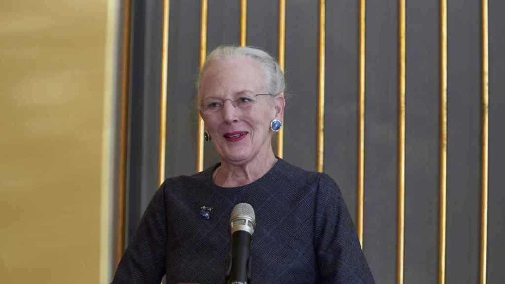 Margarita de Dinamarca, durante una exposición en Copenhague.