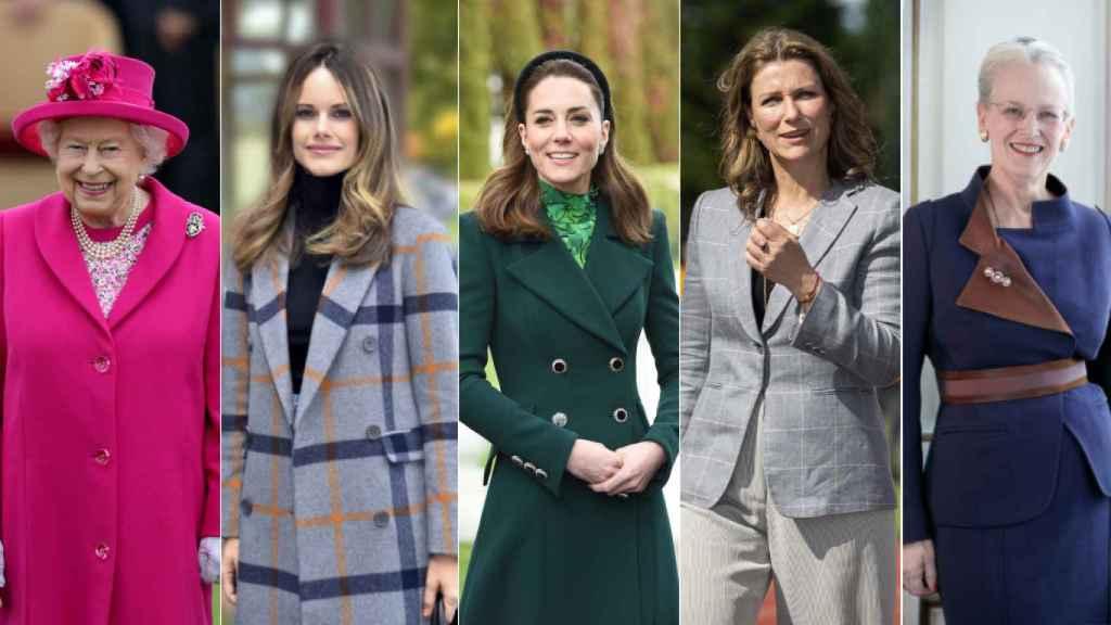 Isabel II, Sofía de Suecia, Kate Middleton, Marta Luisa de Noruega y Margarita de Dinamarca.