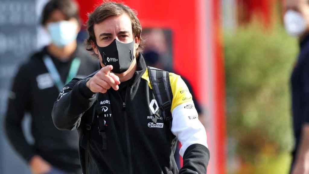 Fernando Alonso, en Imola con Renault