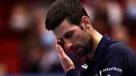 Djokovic lamentándose durante un partido